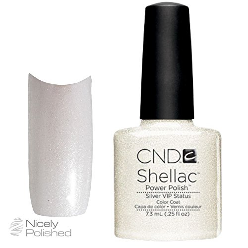 CND Shellac Nagellack, silber VIP Status (Silber Nagellack Shellac)