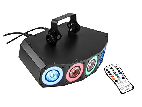 Eurolite LED SCY-50 Hybrid Strahleneffekt | 6in1-LED-Effektscheinwerfer mit RGBAW+UV-LEDs, dynamischen Farbeffekten und Stroboskop | 5 leistungsstarke 10-W-6in1-LEDs für RGBAW+UV Farbmischung - Farb-led-laser