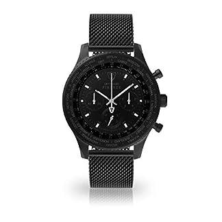 DETOMASO Firenze XXL Reloj Caballero Cronógrafo Analógico Cuarzo Negro Correa Milanaise Negro Esfera DT1045-D-851