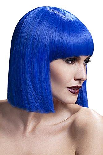 Fever Damen Kurzer Blunt Haarschnitt Perücke mit Pony, 30 cm, Lola Perücke, Blau, One Size, 42493