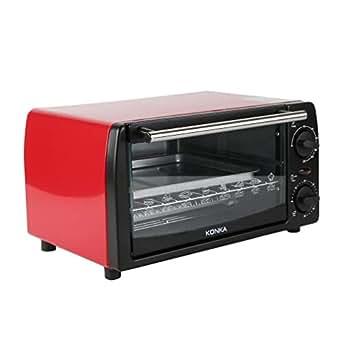 konka 12 l 1050w mini backofen mit umluft elektrischer ofen mini pizzaofen k che mit. Black Bedroom Furniture Sets. Home Design Ideas