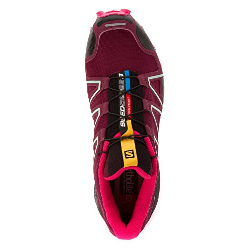 Salomon Damen Speedcross 3 Traillaufschuhe, Grau, 42 EU Violett