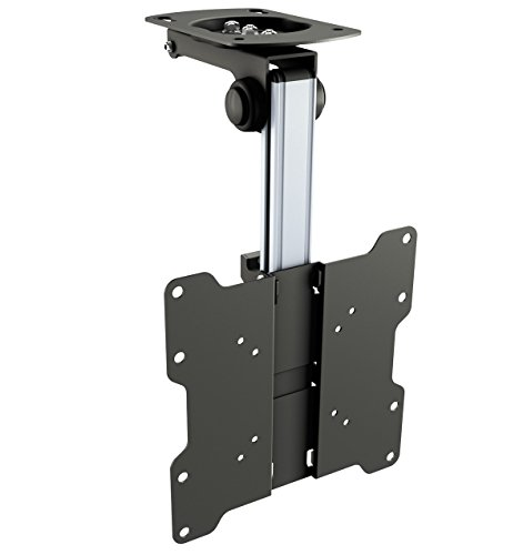 RICOO TV Ceiling Bracket Monitor Mount Tilt Swivel D0122 Bracket Universal LED Curved QLED QE LCD OLED SUHD UHD TFT Height Adjustable Arm Mounting System/ 17