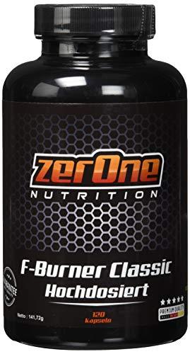 ZerOne Nutrition Premium Fatburner Kapseln hochdosiert, Besteht aus essentiellen Fettsäuren, Beliebt beim Abnehmen und Gewichtsreduzierung, 141 g -