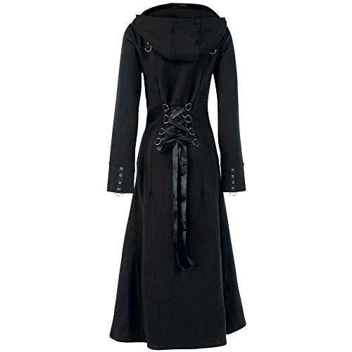 Poizen Industries - Raven Coat Mantel Girls Schwarz