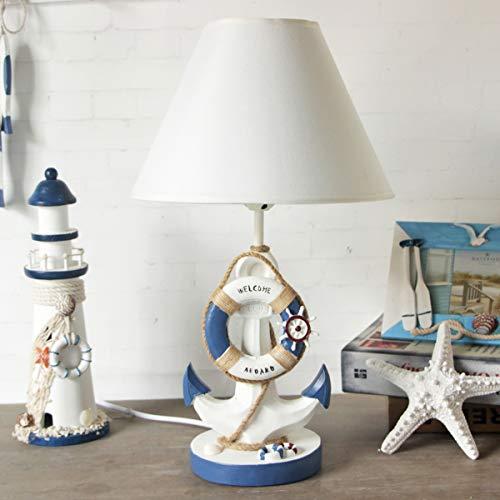 Ancla Resin Lámpara de mesa para niños Niño Niña Como decoración,B