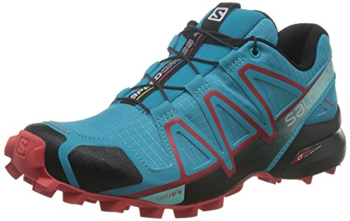 Salomon Speedcross 4 W, Scarpe da Trail Running Donna, Grigio (Quarry/Acai/Fair Aqua) , 38 2/3 EU