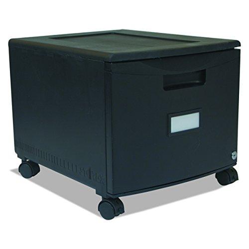 Storex seul fichier tiroir Mini Cabinet avec verrou et roulettes, Legal/lettre Taille 46,4 x 37,5 x 32,4 cm, Noir (Stx61259b01 C)