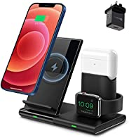 ibsun Wireless Charger, 3 in 1 Wireless Charging Station for Apple Watch, AirPods Pro/2, Detachable and Magnet