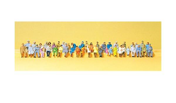 48 Figuren Preiser 14418 H0 Sitzende Reisende