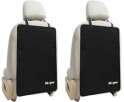 Car Seat Back Protectors By Lebogner - Luxury Kick Mat Seat Covers For The Back (Sedile Anteriore Del Passeggero)