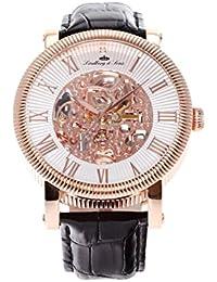 Lindberg & Sons Herren-reloj analógico de pulsera automático de cuero SK14H019