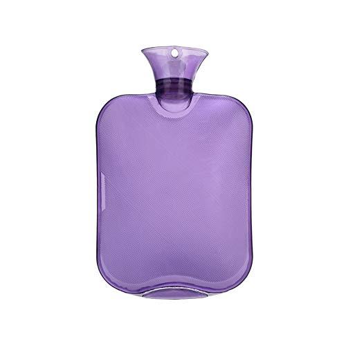 AAGOOD Große Flasche Extra Warmwasser Warmwasser verdicken Klare PVC-Beutel Wasserflasche höchster Qualität Gummi für eine bessere Isolierung 2000 ml / 67,3 Unzen Lila