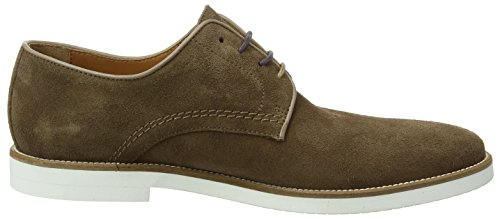 Hackett London Piped Paterson Suede, Derby Homme Marron (Brown)