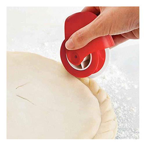 Mambain rotelle per pizza,2 pezzi set pizza taglierina + pizza e decoratore di bordi,rotelle per pasticceria pizza (forma di torsione)