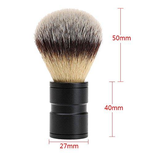 1Pc Dachshaar Rasierpinsel Silvertip Edelstahl Metallhandgriff Barber-Tool Mann-Geschenk
