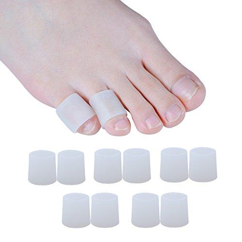 Sumiwish Zehenschutz, 10 Stück Zehenkappen Silikon Für Männer und Frauen Zehenschutz Kleinere - Pinky-zehe-ärmel