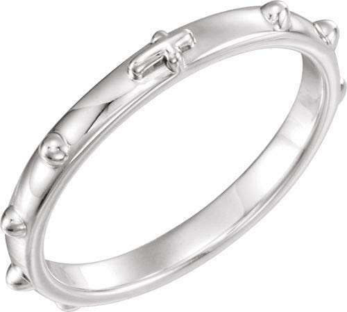 Sterling Silber Rosenkranz Ring Größe 7 (Sterling Silber Rosenkranz)