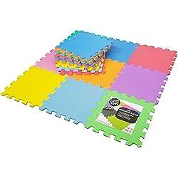 Alfombras Puzzle Goma EVA piezas de Foam Encajables 32 x 32 cm,
