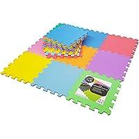 18 Alfombras Puzzle EVA Coloridas Alfombras de Foam Encajables para Actividades Infantiles en el Piso