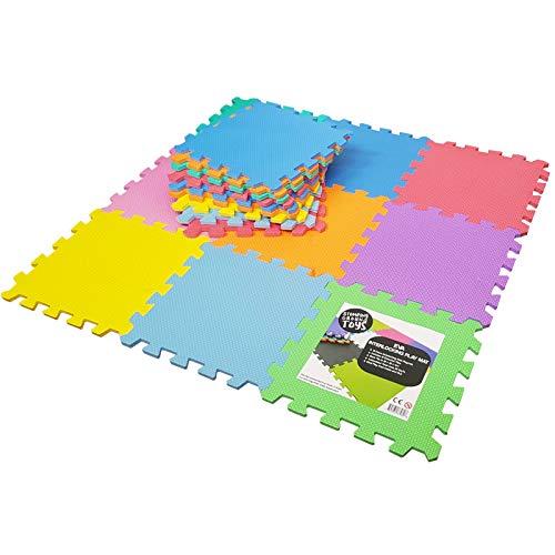 Stomping Ground Toys - 18 Alfombras Puzzle EVA Coloridas Alfombras de Foam...