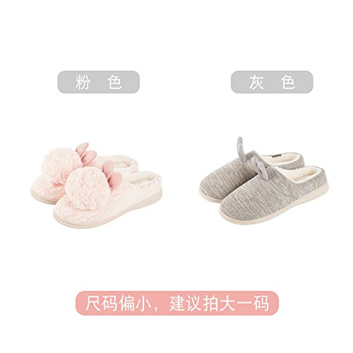 Fankou giovane carino il cotone pantofole inverno femmina indoor home non - Slittamento pacchetto spessa con home cashmere uomini Rosa und Dunkelblau
