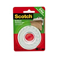 Scotch  Indoor Mounting Tape 110P  .5 in x 6.25 ft  12 7 mm x 1 9 m