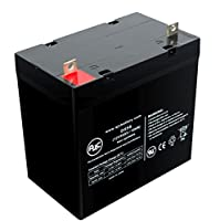 Optiway Fortress Scooters 1600 ACV 12V 55Ah Wheelchair Battery - This is an AJC Brand® Replacement