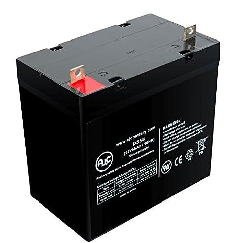Batterie Everest & Jennings Sabre LTD 12V 55Ah Fauteuil roulant - Ce produit est un article de remplacement de la marque AJC®