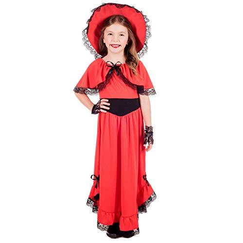 Fun Shack FNK4656L Kostüm, Girls, Scarlett O'hara, L (Scarletts Rotes Kleid Kostüm)