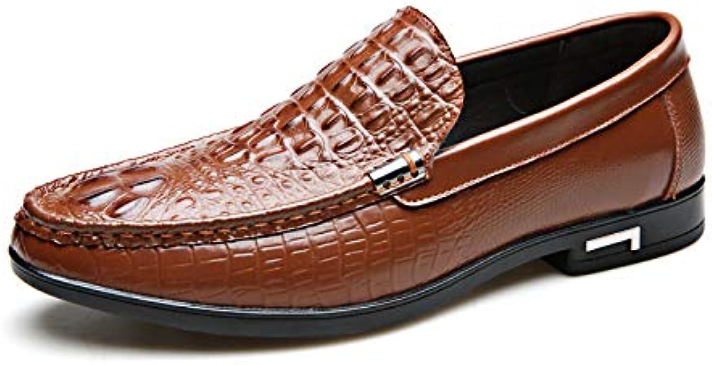 e7fbb1d4b998 LOVDRAM Scarpe da Uomo Moda Scarpe da Uomo Uomo Uomo in Pelle Modello  Coccodrillo Piselli Scarpe