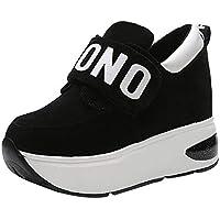 Mujer zapatos Fondo extra alto,Sonnena ❤️ Zapatillas deportivas ocasionales de malla al aire libre para mujer Zapatos con fondo de aumento de suela gruesa Sacudiendo los zapatos