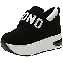OSYARD Basket Compensee Mode pour Femmes Wedge Sneakers pour Femmes,  Plateforme Chaussure Sport Fitness, e5fe205ddd5