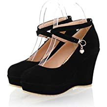 quality design 2eb9b a02b3 Scarpe Chiuse Zeppa - 39 - Amazon.it