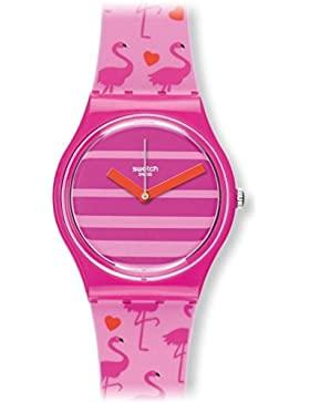 Swatch Damen-Armbanduhr Analog Quarz Silikon GP144