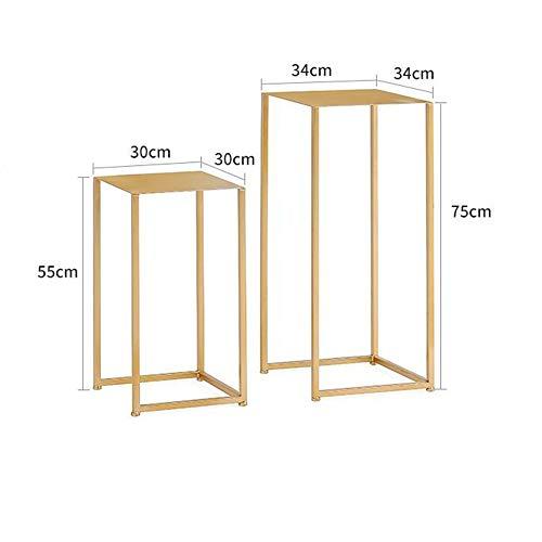 Tische MEIDUO Beistelltisch, Meta-Schachteltische Sofa Table End Table für Schlafzimmer Wohnzimmer Modernes Design 2er Set Computertisch (Farbe : Gold) - Schlafzimmer Modernen Beistelltisch