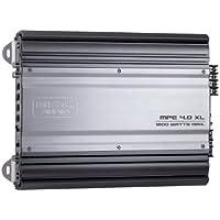 Mac Audio MPExclusive 4.0 XL - Amplificador de coche (conmutador mono / estéreo, 1200 W, rango de frecuencia de 5 Hz - 50 Hz) negro y plata