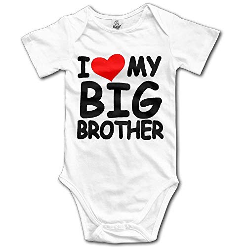I Love My Big Brother Newborn Baby Short Sleeves Triangle Romper Bodysuit for 0-24m Baby Gap Short Sleeve Romper