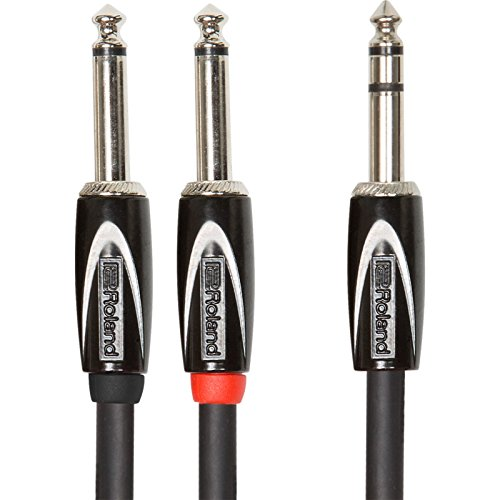 Roland RCC-5-TR28 1.5m 6.35mm TRS 2 x 6.35mm Negro cable de audio - Cables de audio (6.35mm TRS, Macho, 2 x 6.35mm, Macho, 1,5 m, Negro)
