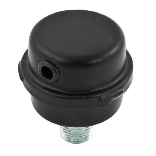 sourcingmap® Nera Metallico 1/2PT Aria Compressore Filtro Silenziatore Ricambio