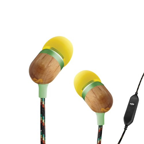 House of Marley EM-JE001-CU Smile Jamaica Jammin' In-Ear Headphone with 1-Button Mic - Curry  available at amazon for Rs.5399