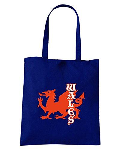 T-Shirtshock - Borsa Shopping TSTEM0133 wales logo Blu Navy