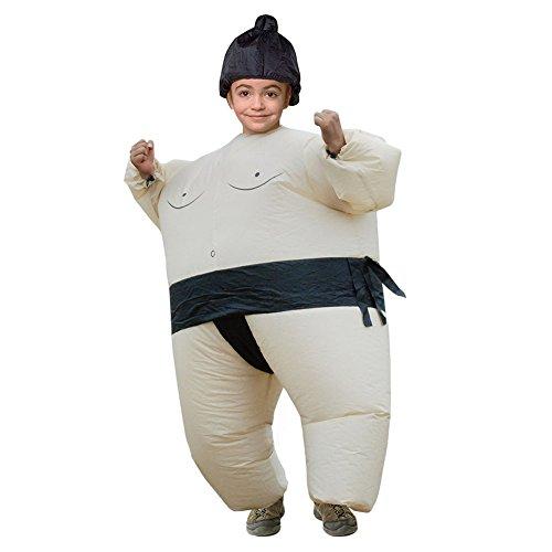 Hallowmax Kinder Unisex Sumo Ringer Aufblasbares Kostüm Halloween Karneval Fasching ()