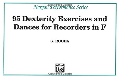 Finger Dexterity Exercises for Recorders in F (Hargail Performance)