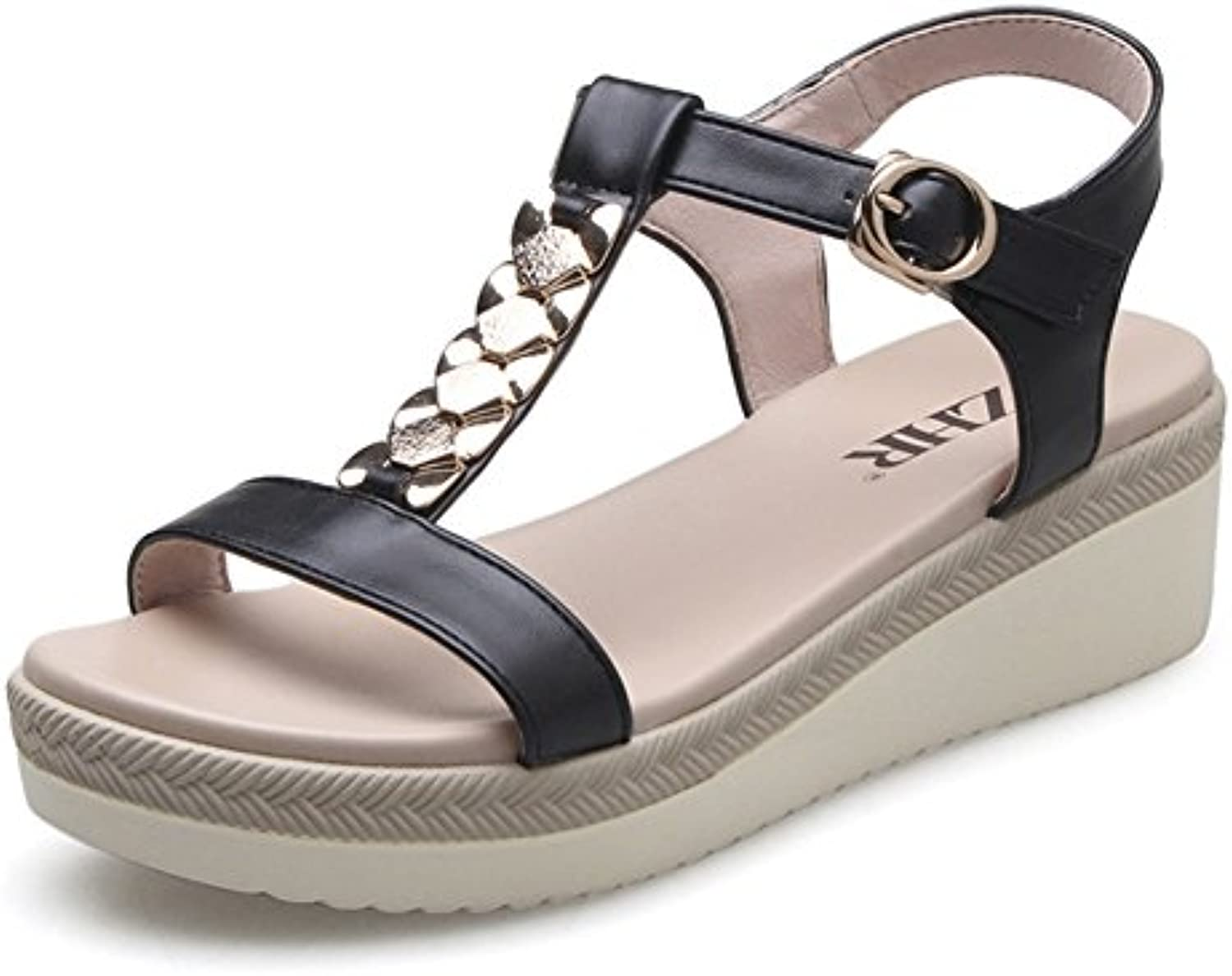 007a439bec1f41 Korean Version Of Wedge Sandals In The Summer