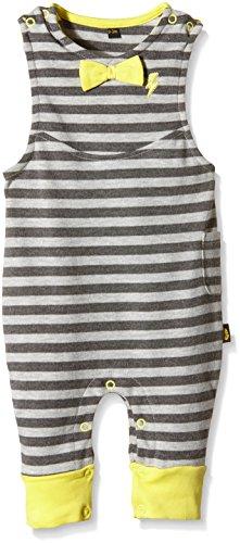 Rockabye Originals Unisex Baby Latzhose Grey Stripe Dungerees,, Gr. 6-12 Monate (Herstellergröße: 6-12 Months),Grau (Grey)