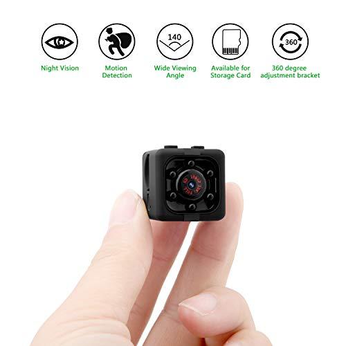 Spy 1080p mini cam hidden camera eternal eye telecamera spia nascosta 1080p hd rilevamento di movimento portatile videocamera di sorveglianza video visione notturna ir registrazione in loop il regalo perfetto (nero)