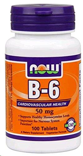 NOW B-6, 50 mg, 100 tabletten - B-50 100 Tabletten