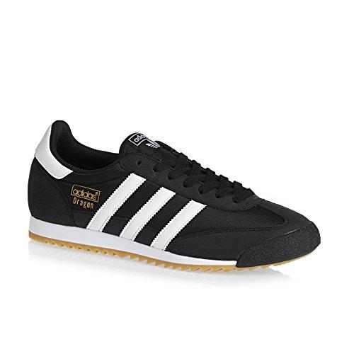 adidas Dragon Og, Sneaker Bas du Cou Homme Noir (Core Black/ftwr White/gum)