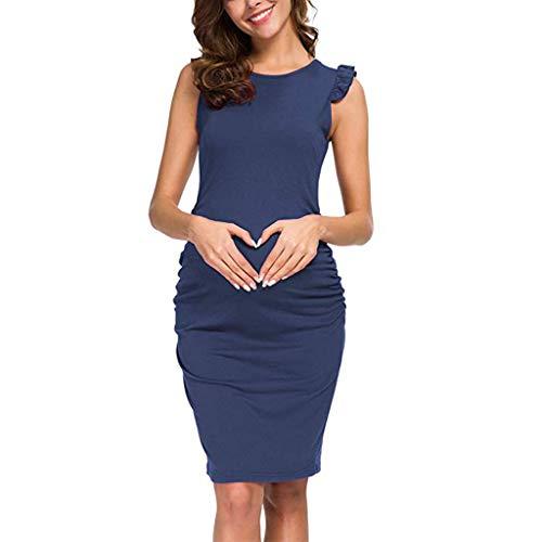 Vestidos Premama Verano Maternidad Ropa para Mujer,Mujeres Maternidad Verano sin Mangas Casual Sundress Vestido de Vestir Ropa Vestido de Lactancia Maternidad de Noche Camisón